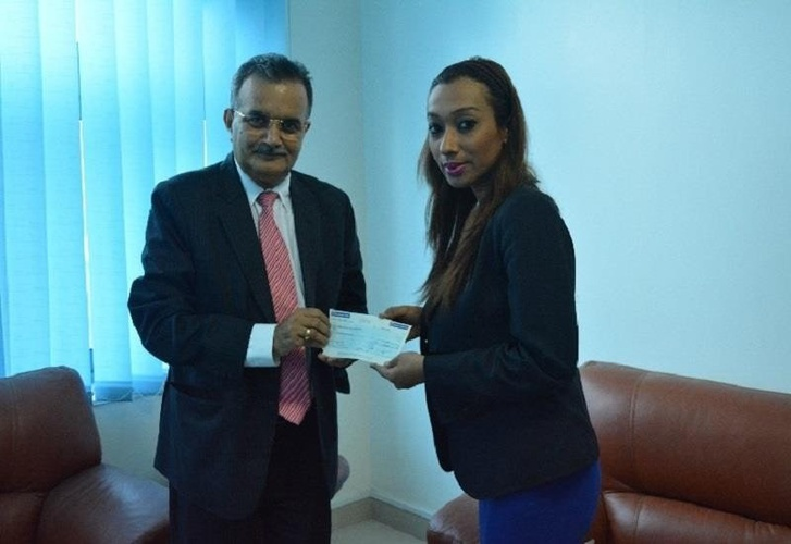 Donation of a day salary to Nepal earthquake relief fund Arabian Courtyard Hotel & Spa Bur Dubai